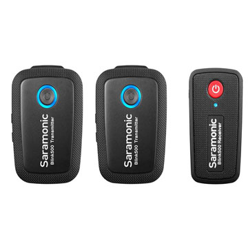 Blink500 B2 ,TX+TX+RX,一對二,領夾無線麥克風